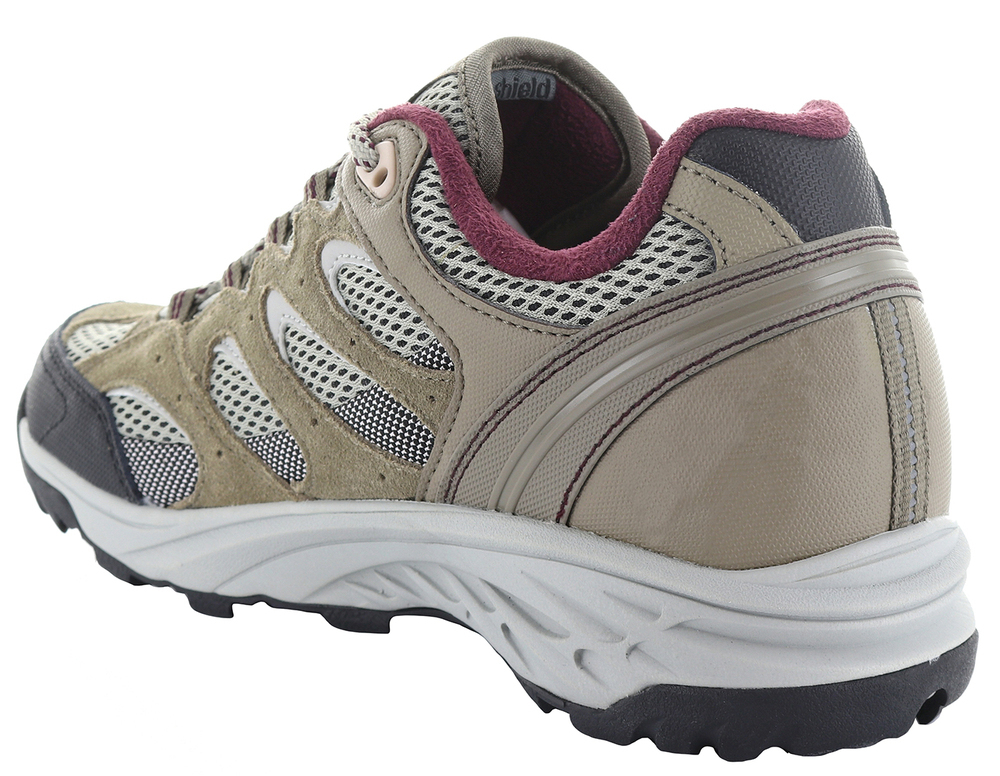 HI-TEC Wild Fire Low I WP Womens Boots - Taupe/Warm Grey/Grape Wine - Size 8