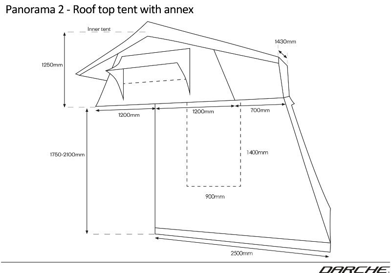 Darche Panorama 2 Roof Top Tent with Annex  sc 1 st  Tentworld & Darche Panorama 2 Roof Top Tent with Annex - Tentworld