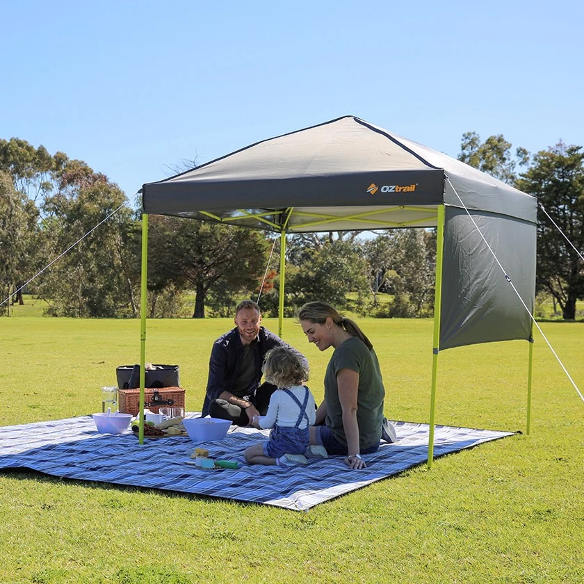 OZtrail OneTouch Day Shade 1.8m Gazebo - Charcoal