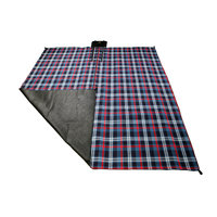 OZtrail Picnic Rug Deluxe 3x3m - Red Tartan