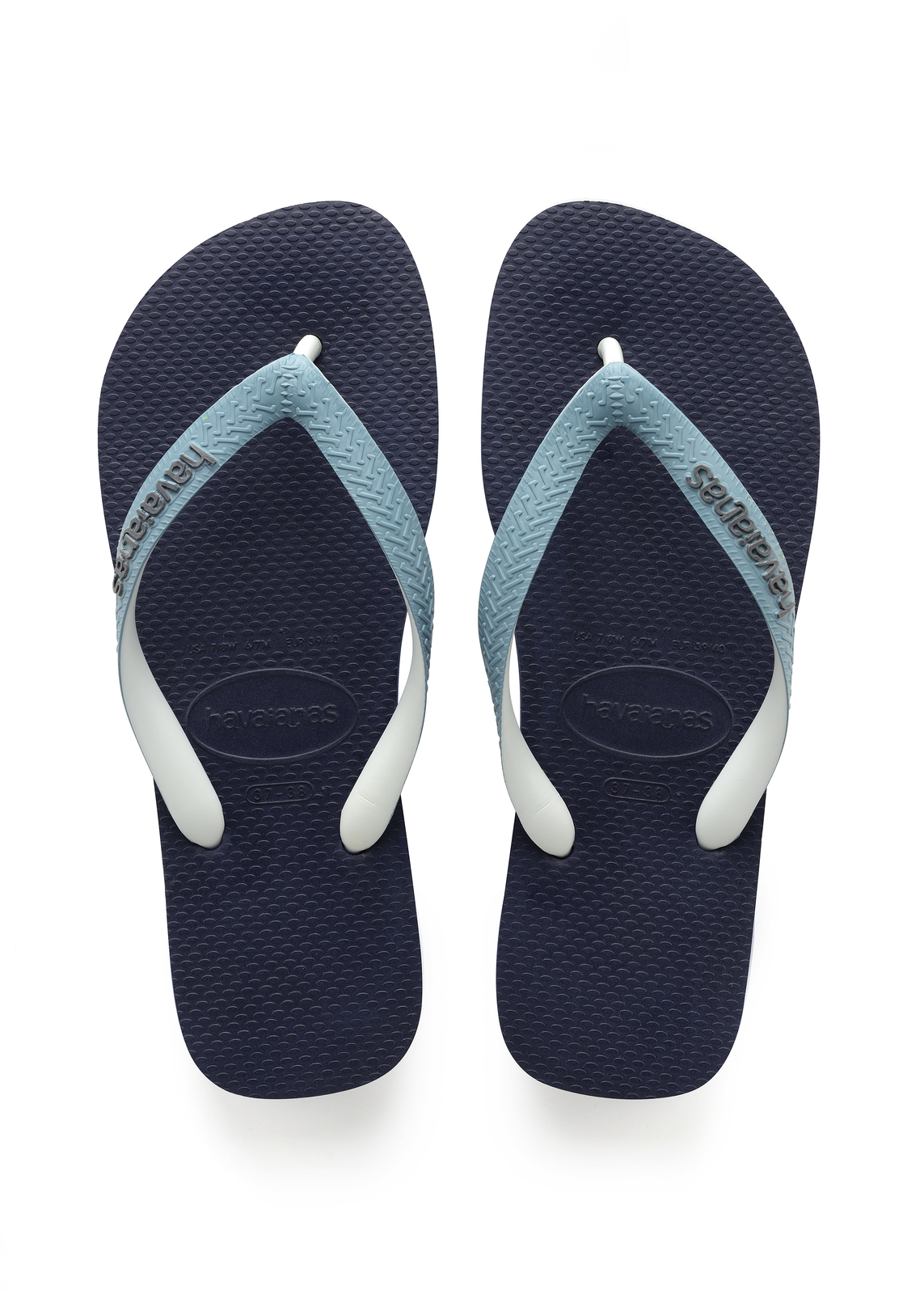 55dbccd2c Havaianas Top Mix Navy Blue Mineral Blue Thongs - Size  35 36 ...