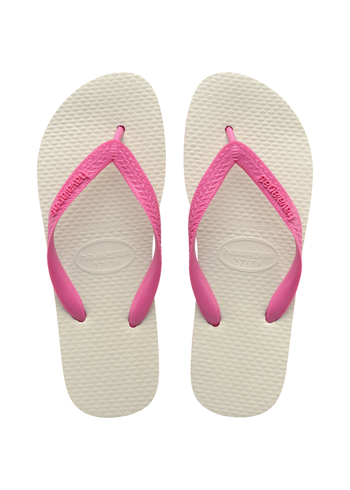 Havaianas Traditional Shocking Pink Thongs - Size: 33/34