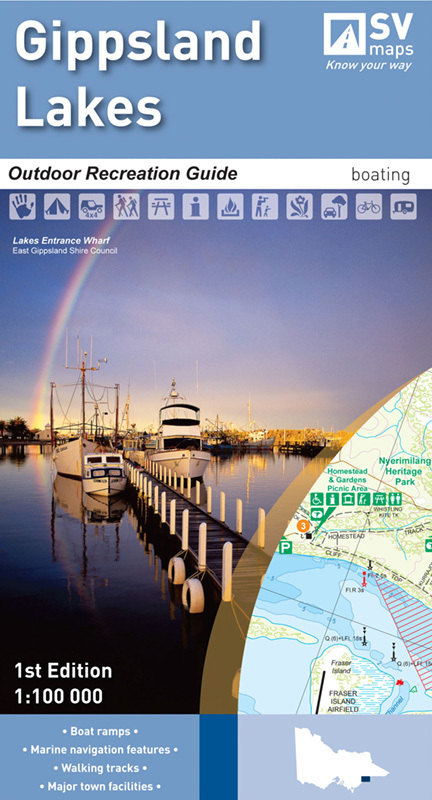 Spatial Vision Gippsland Lakes Map - Edition 1