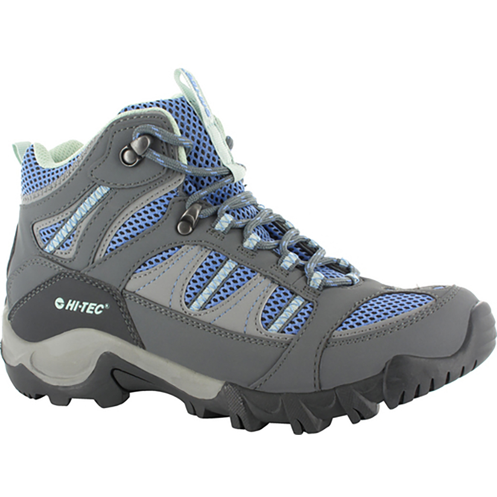 HI-TEC Bryce II Mid WP Womens Boots - Graphite/Cornflower/Sprout - Size 10