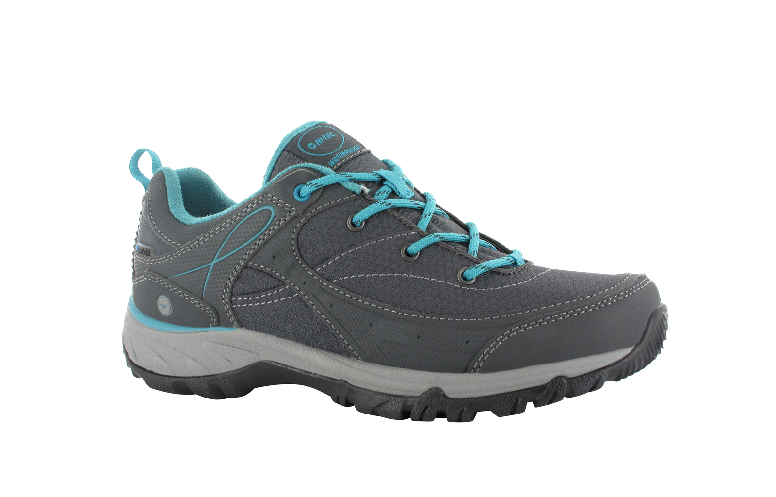 a6d0ea716db Details about Hi-Tec Equilibrio Bijou Low I Womens Sports Boots Charcoal  Tile Blue Size 9 US