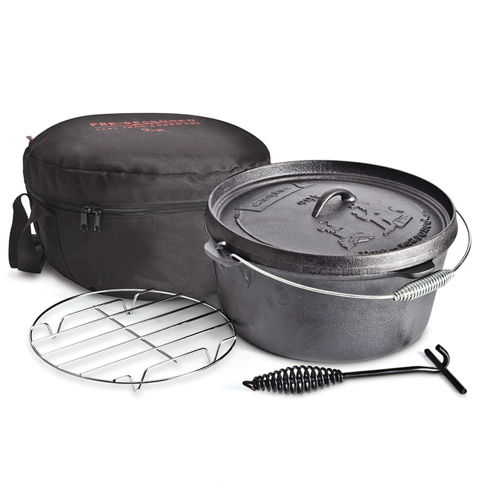 Campfire 9Q Cast Iron Camp Oven Pack (8.5 Litres)