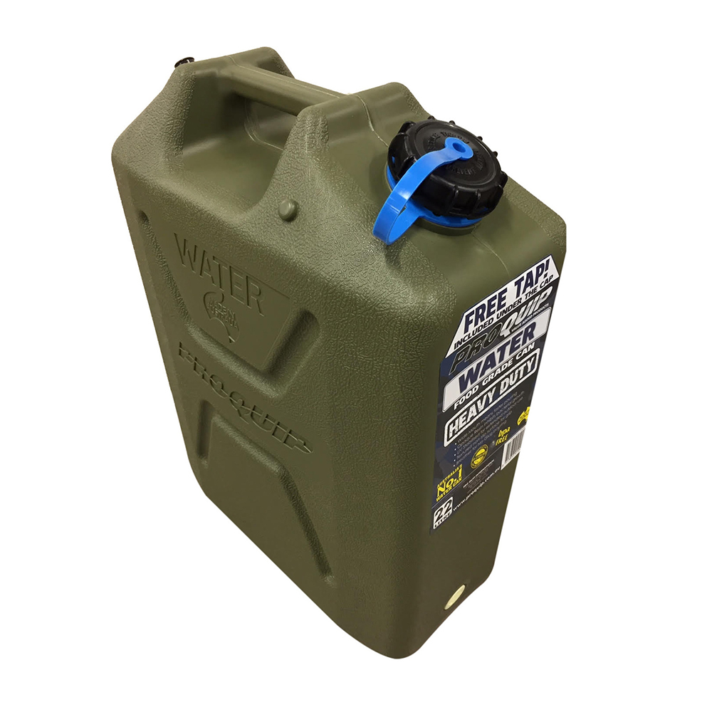 PROQUIP Plastic 22L Jerry Can - Water - Green
