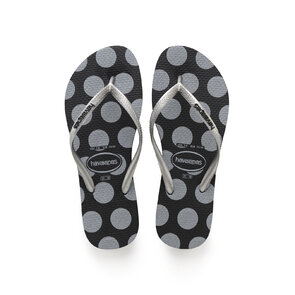Havaianas Slim Retro Black Thongs