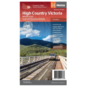 Hema High Country Victoria - North East Map - 1st Edition