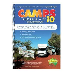 Hema Camps 10 Australia Wide with Snaps B4 Spiral Book 2019