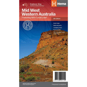 Hema Mid West Western Australia Map  - Edition 4