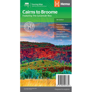 Hema Savannah Way - Cairns to Broome Map