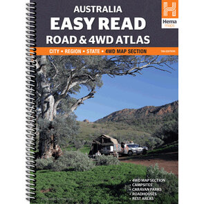 Hema Australia Easy Read Road + 4WD Atlas Spiral Book - Edition 11