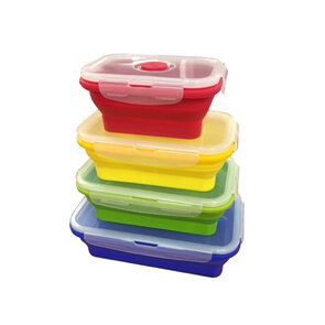 Supex Collapsible Rectangle Containers - 4 Pack