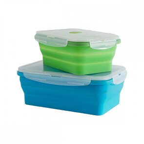 Supex Collapsible Rectangle Containers - Large - 2 Pack