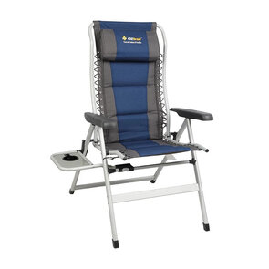 OZtrail Cascade Deluxe 8 Position Chair with Side Table