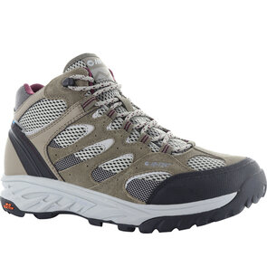 HI-TEC Wild Fire Mid I WP Womens Boots - Taupe/Warm Grey/Grape Wine