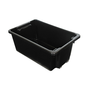 Nally Storage Box Container 52L with Lid - Black