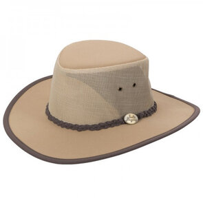 Jack Jumper Outback Mesh Hat - Tan - Large