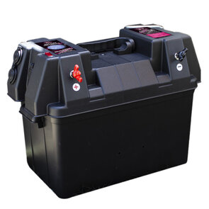 KT Portable Battery Box with Voltmeter & Power Accessories