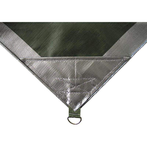 Outdoor Connection Durarig Tarpaulin - Silver/Green - 18x20 - 5.5m x 6m