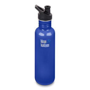 Klean Kanteen 27oz Classic Bottle Sport Cap - Coastal Waters