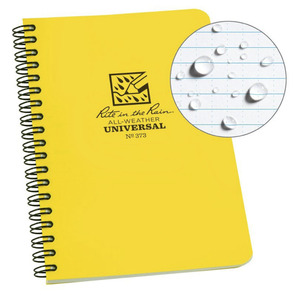 Rite in the Rain Side Spiral Waterproof Universal Notebook - 4.625 X 7 - Yellow