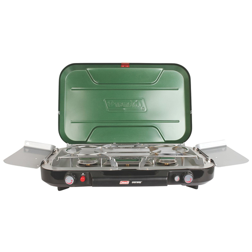 Coleman EvenTemp 3 Burner Stove with Griddle & Grease Cup