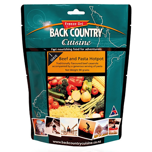 Backcountry Beef & Pasta Hotpot Food - 1 Serve