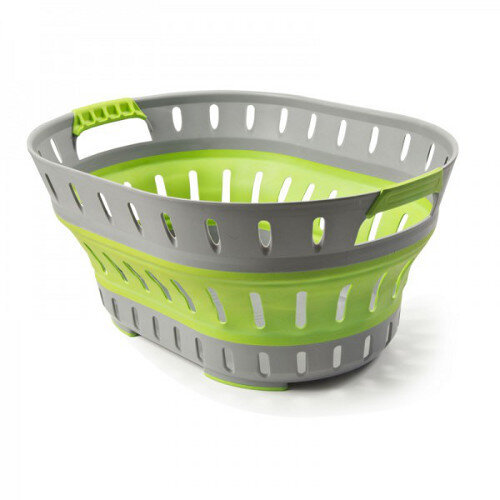 Companion Compact Pop Up Folding Laundry Basket - Green