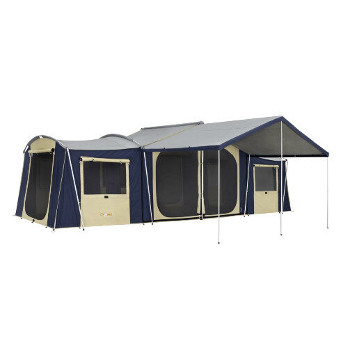 ... OZtrail Chateau 12 Canvas Cabin Tent includes Canvas Sunroom u0026 Vinyl Floor  sc 1 st  Tentworld & OZtrail Chateau 12 Canvas Cabin Tent - Tentworld